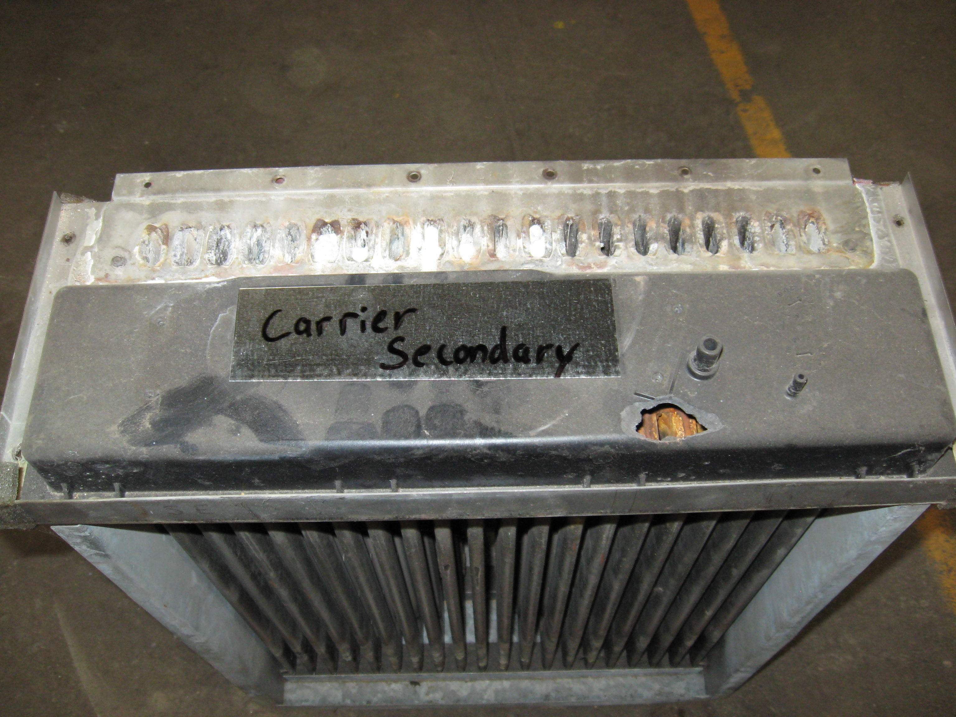 Plugged Secondary Heat Exchanger